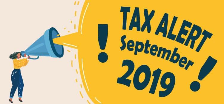 Tax Alert September 2019